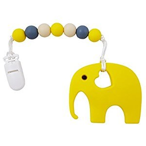 Silicone Elephant Baby Teether with Pacifier Clip for Boys and Girls – by AND.IGO