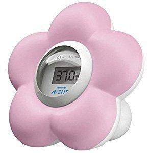 Avent Thermomètre Numérique Chambre et Bain - Couleur : Rose