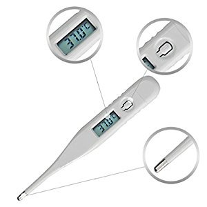 Compia Child Adult Body Digital LCD Thermometer Temperature Measurement USSP for Oral, Rectal or Axillary Underarm Body Temperature Measurement with backlit LCD Display