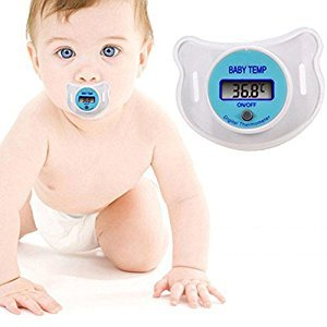 Infant Girls Nipple Thermometer Medical Silicone Pacifier Color Random