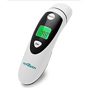 Medical Ear and Forehead Digital Thermometer Medical Dual Mode Infrared Thermometer for Adults and Babies with 1 Second Measurement, Fever Detection, 20 Memory Recall, FDA and CE Approved