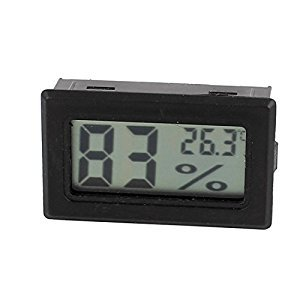 uxcell® LCD Digit Inserted Temperature Humidity Tester Thermometer Hygrometer