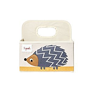 3 Sprouts Diaper Caddy, Hedgehog Grey