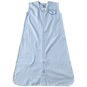 HALO 2161 SleepSack 100-Percent Cotton Wearable Blanket X-Large Light Blue