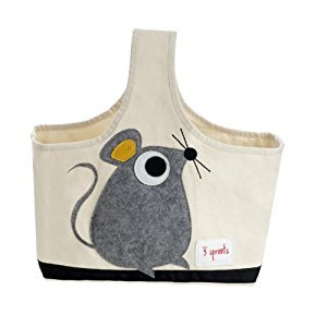 3 Sprouts Storage Caddy, Mouse, Grey