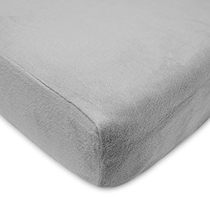 American Baby Company Heavenly Soft Chenille Fitted Crib and Toddler Sheet, Steel Gray