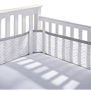 Breathable Baby 12414 Crib Liner, Grey Chevron