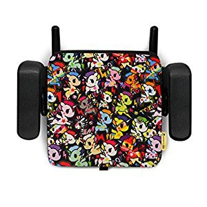 Clek Olli Backless Belt Positioning Portable and Compact Booster Car Seat with Latch, tokidoki Unicorno Disco