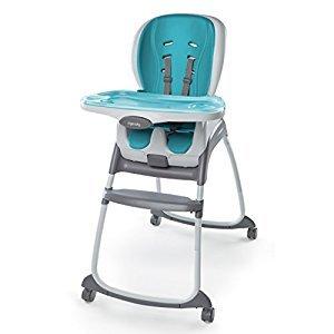 Ingenuity SmartClean Trio 3-in-1 High Chair-Aqua Blue