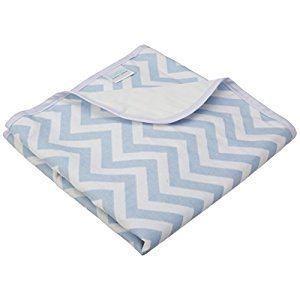 Kushies Baby Deluxe Change Pad, Blue Chevron