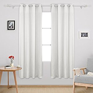 Deconovo Window Thermal Insulated Grommet Blackout Curtains Drapes Panels For Bedroom 2 Panels 52W x 72L Greyish White