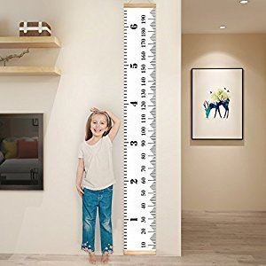 YESURPRISE Baby Growth Chart Handing Ruler Wall Decor for Children, Canvas Removable Roll Up Height Record Talltape for Kids Nursery Room 79