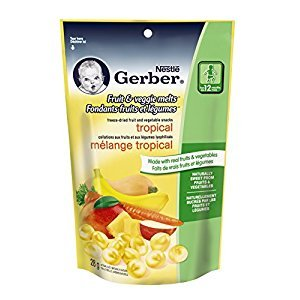 Gerber Fruit and Veggie Tropical Snack, 28g (7 pack)