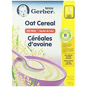 Gerber Oat Cereal, Complete, Stage 1, 227g box (6 pack)