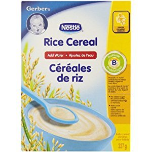 Gerber Rice Cereal Complete, Stage 1, 227g box (6 pack)