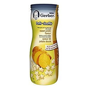 Gerber Sweet Potato Puffs, Snack, 42g canister (6 pack)