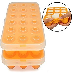 Baby Food Storage Tray - Silicone Pop Out Portion Freezer Tray (2 Pack) - Breast Milk and Food Storage Made Easy