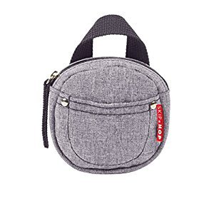 Skip Hop Grab & Go Pacifier Pocket, Heather Grey