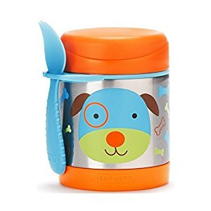 Skip Hop Zoo Little Kids & Toddler Stainless Steel Insulated Food Jar, Darby Dog