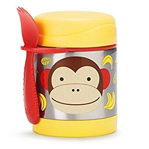 Skip Hop Zoo Little Kids & Toddler Stainless Steel Insulated Food Jar, Marshall Monkey