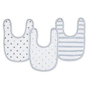 aden + anais Little Bibs 3 Pack, Dove