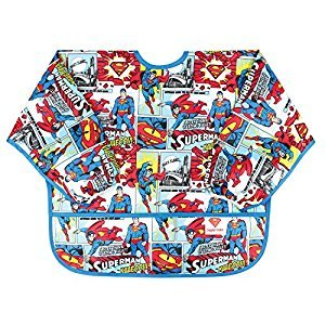 Bumkins DC Comics Sleeved Bib, Polyester, Superman Comic, One Size