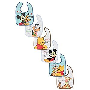 Mickey Mouse Deluxe Terrycloth & Vinyl Bib 6-Count
