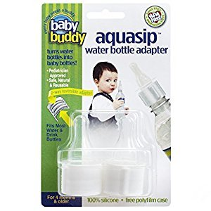 Baby Buddy Aqua Sip Water Bottle Adapter, White, 2-Count, Pack of 2