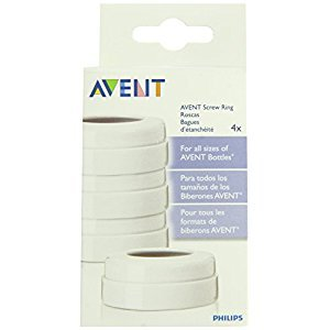 Philips AVENT SCF140/00 BPA-Free Classic Bottle Screw Rings, 4-Pack