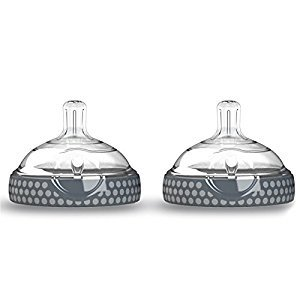 Baby Brezza BZB00187 Nipple (2 Pack), Clear/Grey