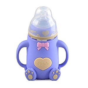 YXBaby Feeding bottle Anti-flatulence Feeding Bottle Wide Mouth Feeding Bottle with Food Grade Silicon Nipple for New born or baby,BPA free