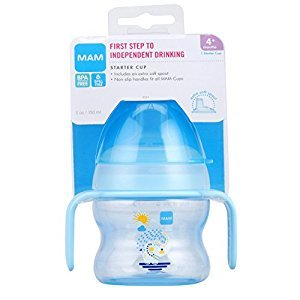 MAM Starter Cup with Extra Soft Spout, Boy, 4 Oz