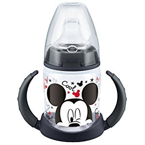 NUK 150ml Disney First Choice Learner Bottle with Non-Spill Silicone Spout (Black)