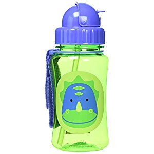 Skip Hop Zoo Straw Bottle, 12 oz, Dakota Dinosaur
