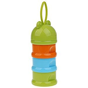 Dovewill 3 Layers Baby Milk Powder Formula Dispenser Feeding Case Box Container - Frog Green, as described