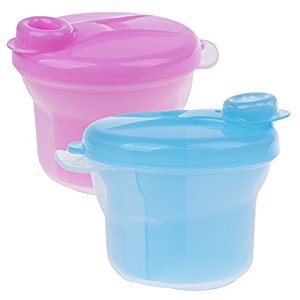 Dovewill BPA Free Portable Baby Milk Powder Formula Dispenser Container/Snack Cup for Storage - Rose and Blue, as described