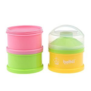 MonkeyJack Food Container Baby Milk Powder 3 Layers Portable Dispenser Storage Box Bottles - Style 1, as described