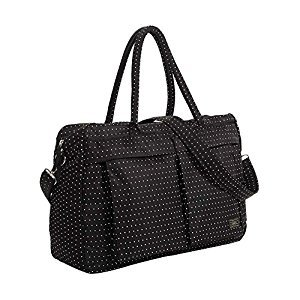 Black & White Dot,Faddish WaterProof High Capacity Baby Bottle Tote Bag