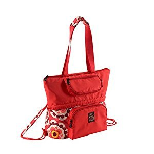 Fashionable WaterProof High Capacity Baby Bottle Tote Bag(Red)