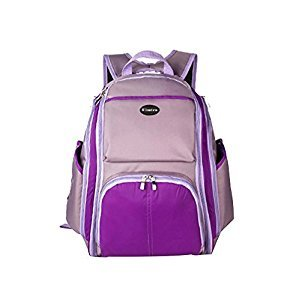 Purple,Faddish WaterProof High Capacity Baby Bottle Tote Bag/Shoulder Bag