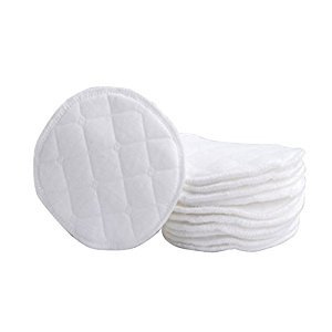 12PCS 9cm/3.5inch Cotton Nursing Pads- Soft Organic Cotton Spill Prevention Breast Pad Reusable Eco-Friendly Washable Breastfeeding Pads(White)