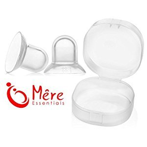 Mêre Essentials Nipple Supplets Breast Feeding Aid for Flat, Inverted Nipples with Storage Case (Large)