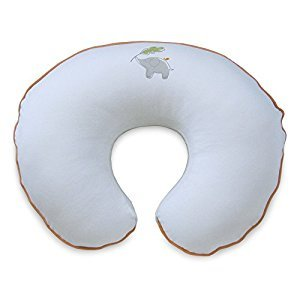 Boppy 3140497K AMC Pillow Slipcover, Organic Elephant, White