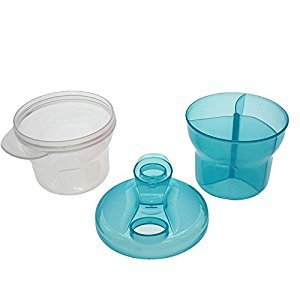 HuaYang New 3 Layers Rotating Baby Infant Food Milk Feeding Powder Dispenser Storage Box Blue