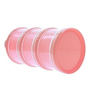 HuaYang New Portable 3 Layer Baby Infant Food Milk Powder Bottle Box Dispenser Container Pink