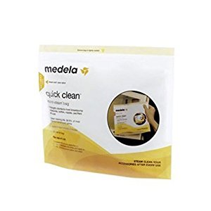 Medela Quick Clean Micro-Steam Bags Five Pack - Pack of 2