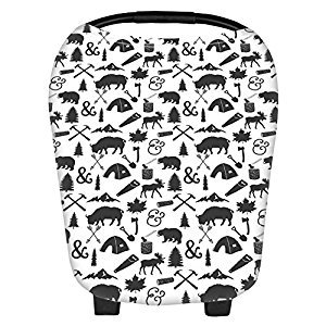 BleuMoo Multi Use Breast Feeding Nursing Cover Scarf Baby Car Seat Canopy Shopping Cart Stroller Car seat Covers (3#)