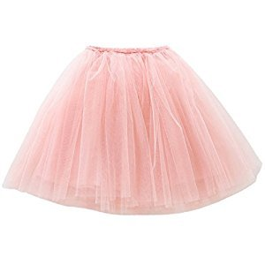 Kids Girls Soft Triple Layer Tulle Tutu Skirts Elastic Waistband for Baby Dance Costume Dress up 2-3 Years Old Pink