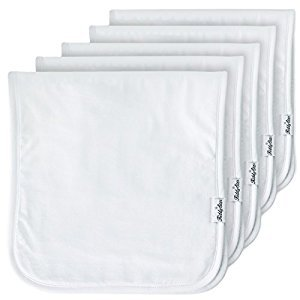 5-Pack Baby Burp Cloths, 100% Organic Cotton, Large 21