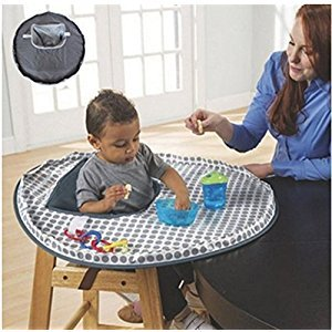 Baby Feeding Chair Cushion Foldable Waterproof Cloth Protect Infant Eat Dinner Chair For Toddler Booster Table Seats